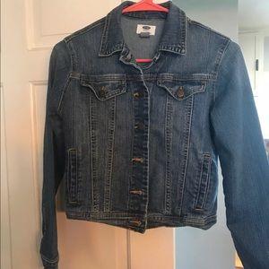 Old navy stretch jean jacket girls sz 14 xLarge.